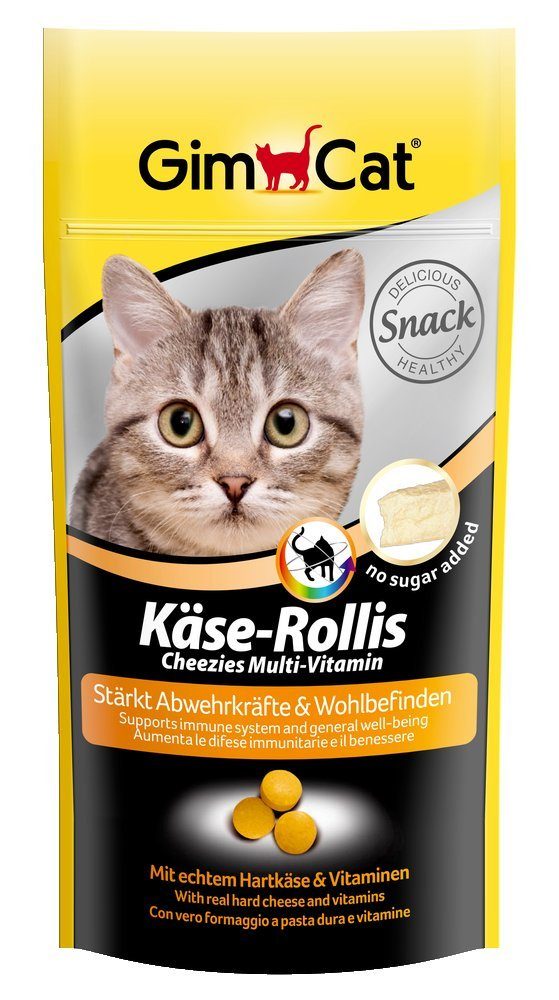 GimCat Queso de rollis Multi de vitamina, 3 Pack (3 x 40 g): Amazon.es: Productos para mascotas