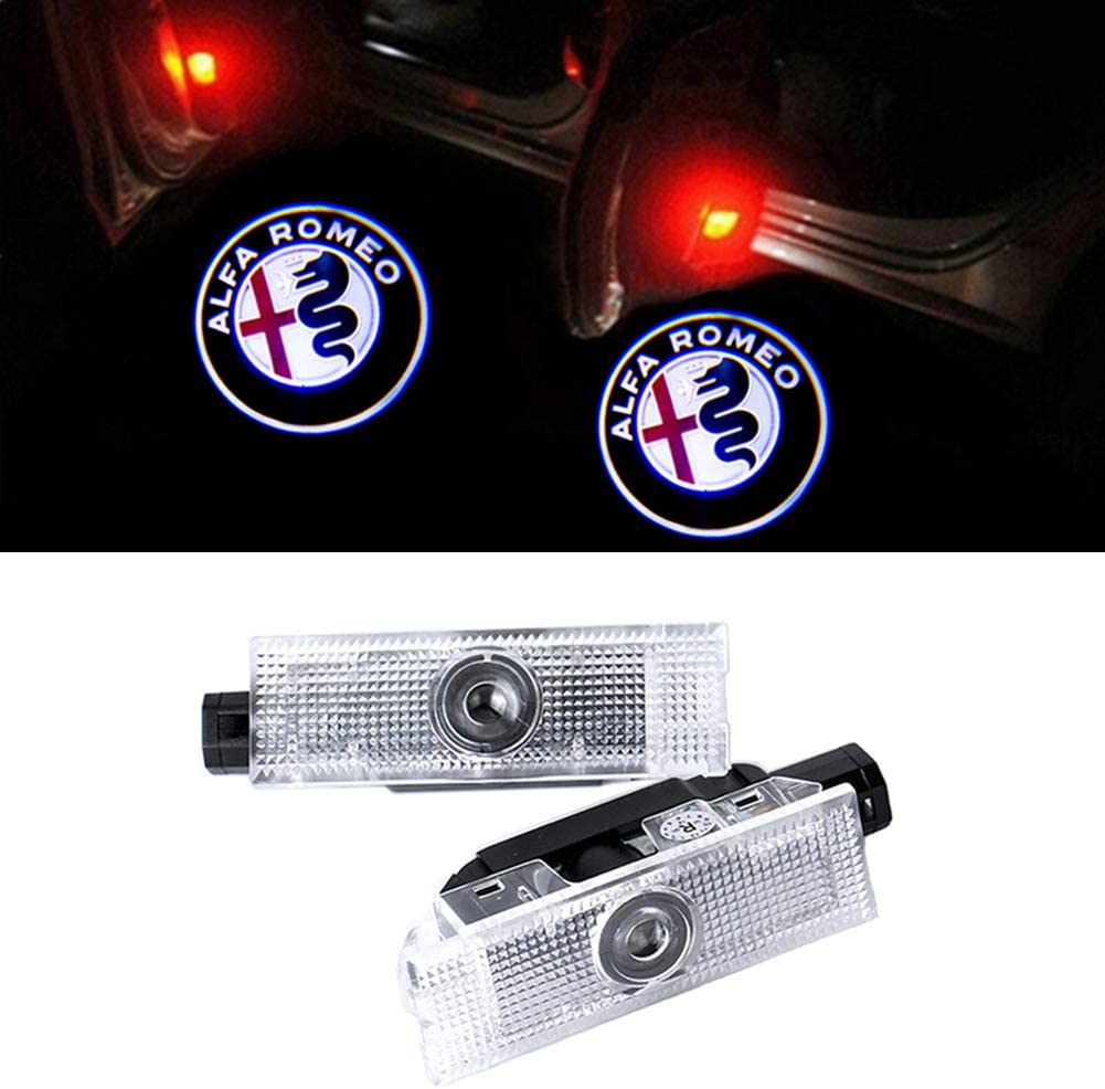 GEEANDLY 2 Pieces Car Door Lights LED Ghost Shadow Light Entry Welcome Projector Lamp Logo Light for E
