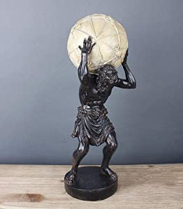 JUZZQ Abstract Atlas Statue Sculpture Figurine Room Decor Crafts Ornament Gifts Greek Titan Atlas Carrying The World Statue Greek God Statue Carrying The Earth Home Desktop Decoration