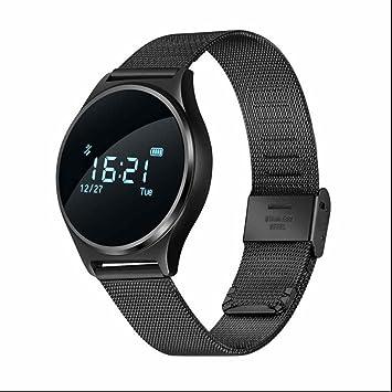 Fitness Tracker con Pulso Reloj Podómetro Tensiómetro de actividad Tracker Contador de Calorías Dormir Análisis Remote Cámara Despertador Bluetooth y App ...