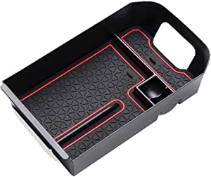 EDBETOS Center Console Organizer Tray Compatible with Toyota RAV4 2019 2020 ABS Armrest Glove Box Secondary Storage Insert - Toyota RAV4 Accessories