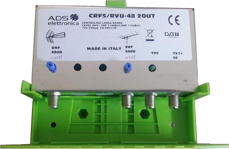 Centralita de Poste 2 Salidas 48 dB UHF. El más Potente. Amplificador de Antena.
