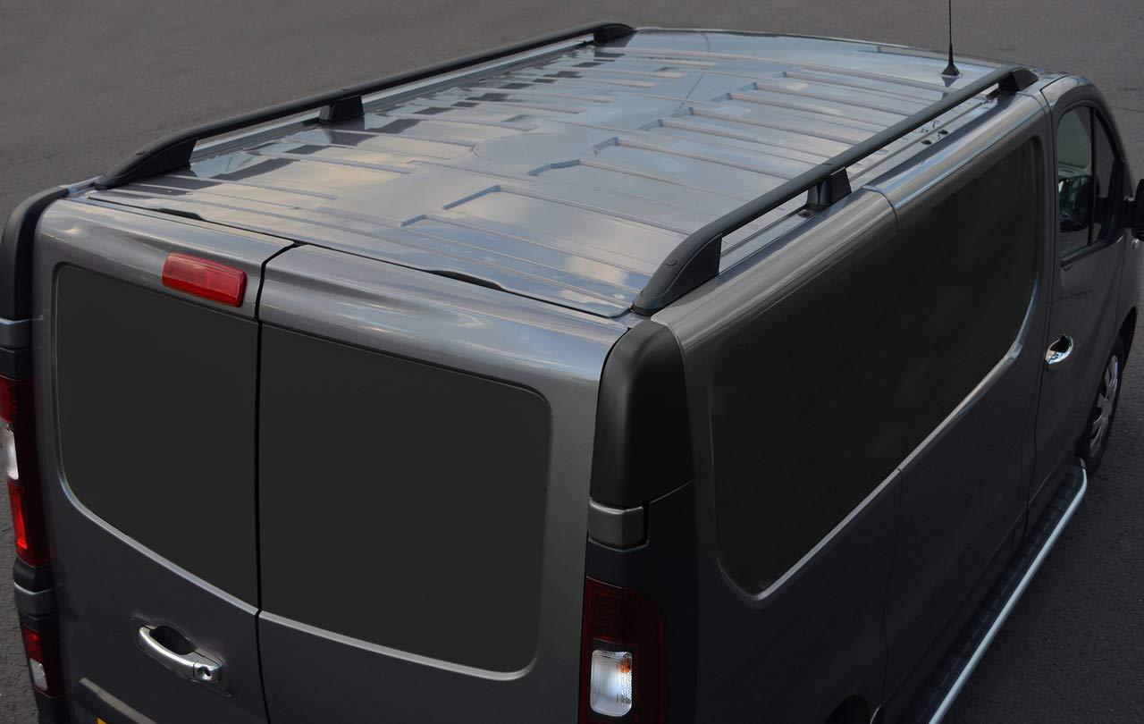 aluminio negro 2016+ Barras de techo para L1H1 Talento