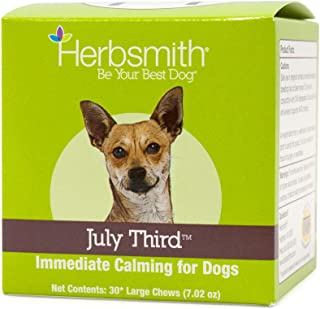 product image for Herbsmith July Third - Canine Calming Chews - Calming Herbs for Dogs - Anxiety Supplements for Dogs