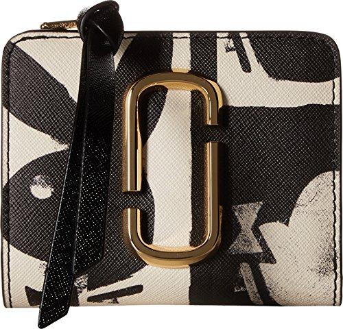 Marc Jacobs Mini (Marc Jacobs Women's Snapshot Playboy Mini Compact Wallet Black Multi One Size)