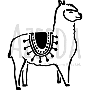 a4 llama wall stencil template ws00036027 amazon co uk toys