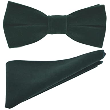 2214256c0b76 Image Unavailable. Image not available for. Color: Luxury Dark Green Velvet  Bow Tie ...
