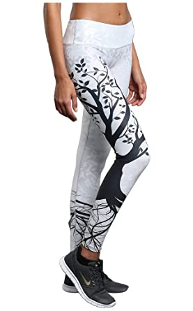 bc01a77d902 Noli Yoga Women s Tree of Life Leggings Silver X-Small: Amazon.in ...