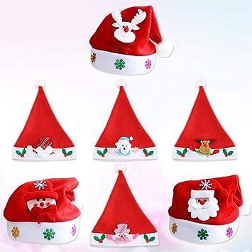 Natale Babbo Natale Illuminare Cappello Rosso LED lampeggiante-Regalo di Natale Fancy Dress