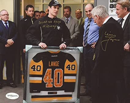 hot sale online 42013 bbf6c Mike Lange #40 Signed Pittsburgh Penguins 8x10 Photo ...