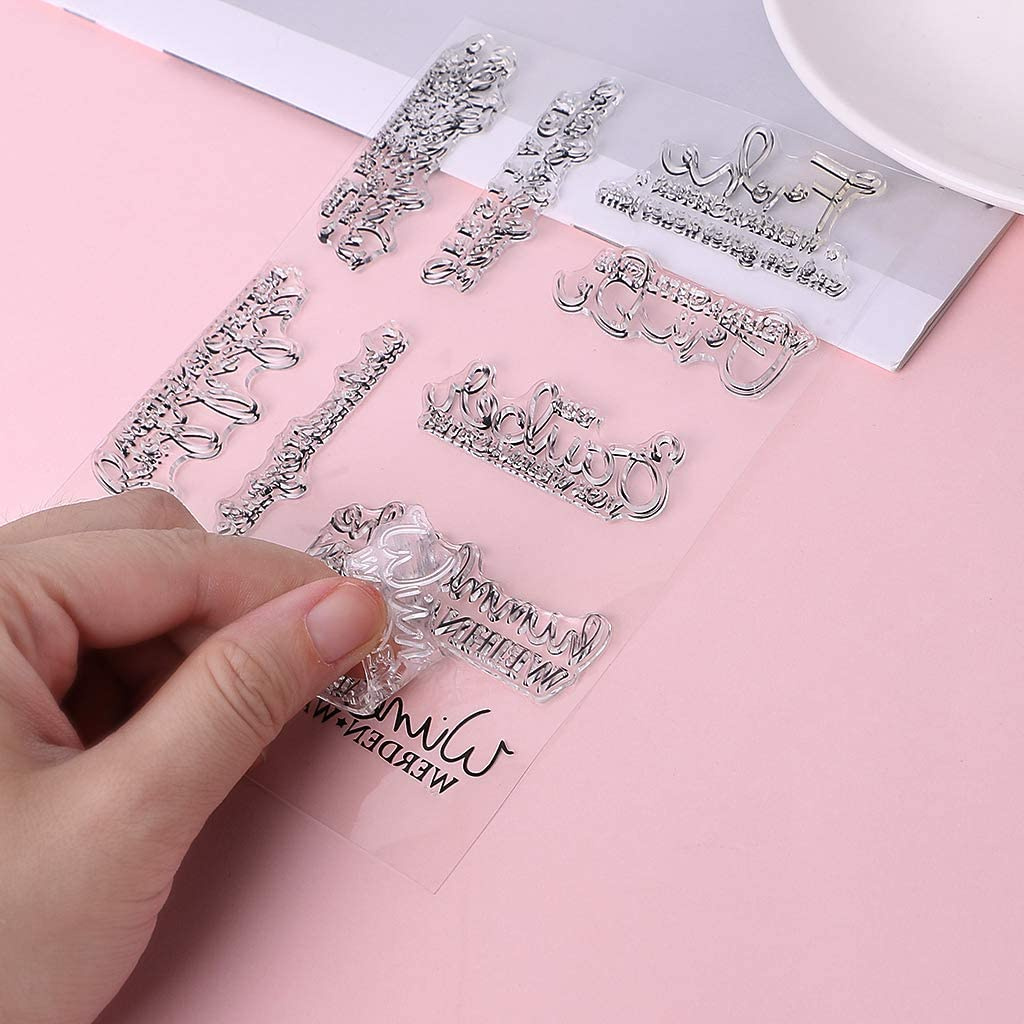Siegelstempel DIY Scrapbooking Pr/ägung Foto Kunst Ostergarten Silikon Qintaiourty Stempel zum Basteln von Karten transparent Fensterbank