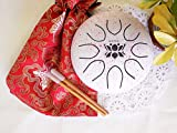 Hand Drum Steel Tongue Drum Gentle Healing Sound, Wuyou 7in UFO Lotus Symbol Musical Instrument Percussion
