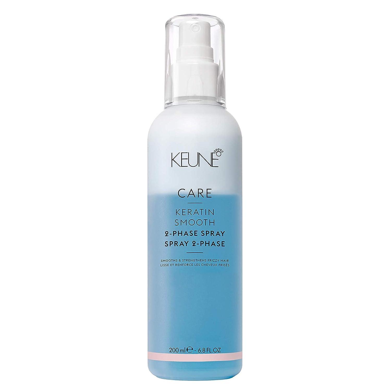 Keune Care Keratin Hair Treatment Smooth 2 Phase Spray, Heat Protectant Spray for Hair 6.8 oz/ 200ml, Make your Hair Silky, Smooth, Stronger and Healthier