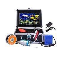 """Docooler Nachtsicht Fisch Sucher/Unterwasserfischerei Kamera, 7"""" TFT LCD Farben Monitor/800TVL Beweglich/30M Kabel(Multi-Sprache,in Deutsch)"""