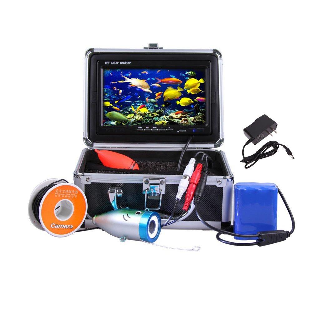 Lixada 7'' TFT LCD Monitor 800TVL Portable Night Vision Fish Finder Underwater Fishing Camera 30M Cable