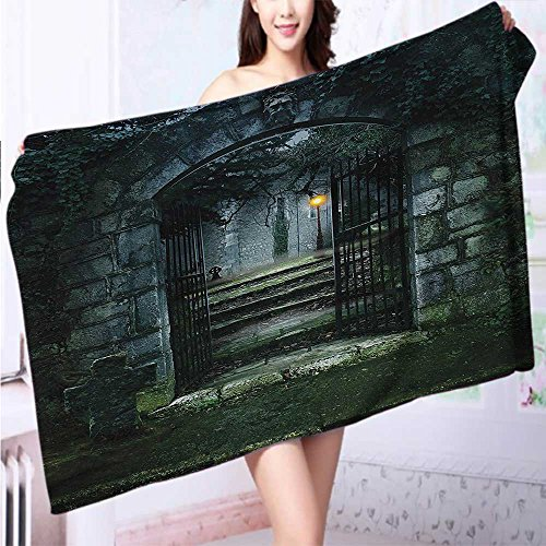 Auraise Home Premium Extra Bath Towel Ancient Altar Holy Table in Castle Baroque Inspired Alchemy Wizard Soft Cotton Machine Washable L55.1 x W27.5 INCH by Auraise Home
