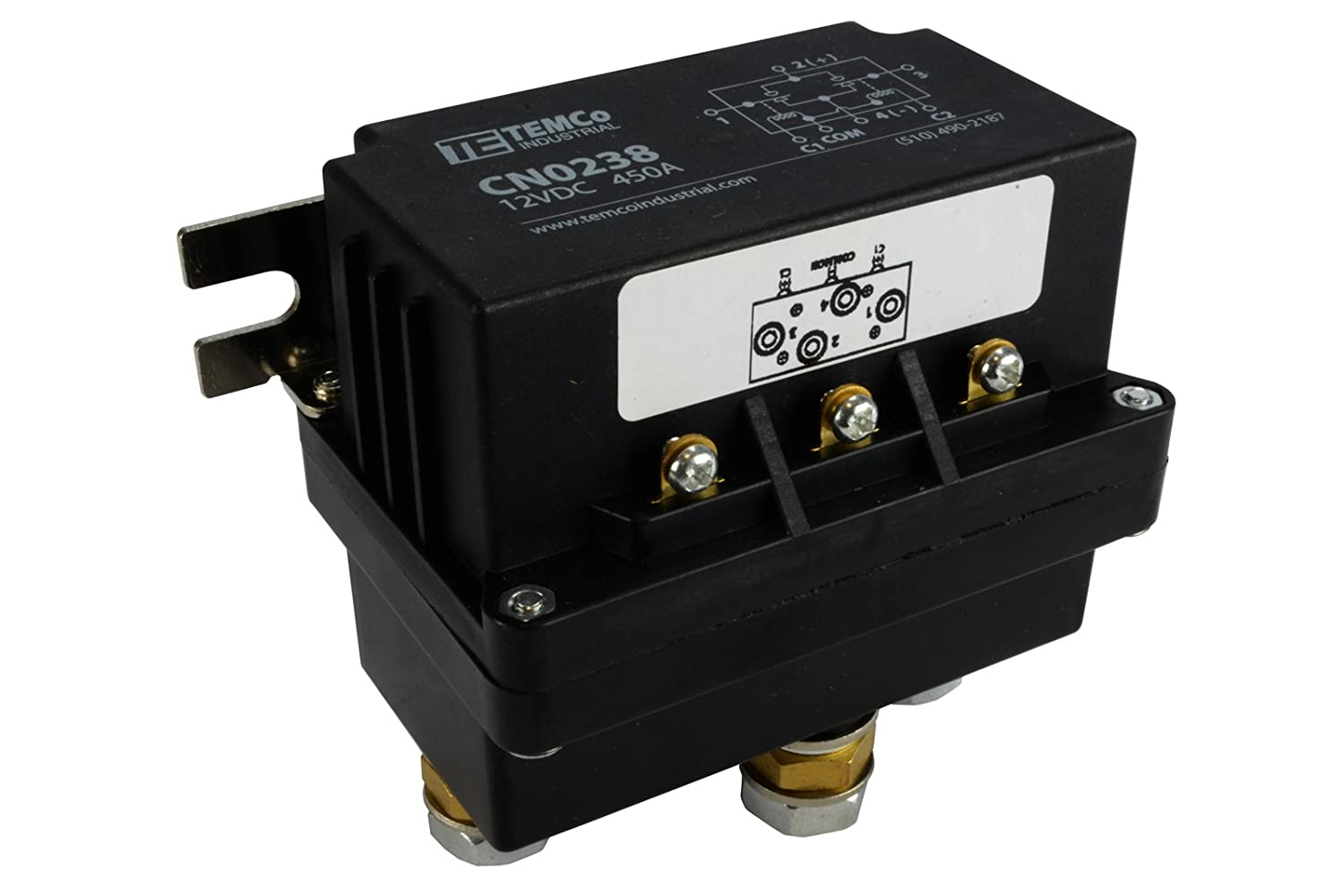 Amazon.com: TEMCo 450 Amps DC Winch Motor Reversing Solenoid Relay Switch  12 Volt Contactor 5 YEAR WARRANTY: Automotive