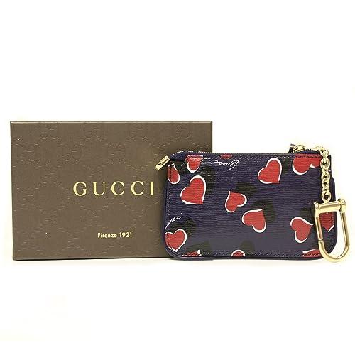 Amazon.com Gucci Heart Card Holder \u0027Heartbeat\u0027 Navy Leather