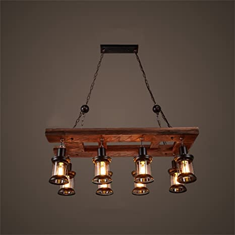 Lampadari In Legno Rustici.Lampadari Stile Rustico Americano Lampadario A 8 Luci Di