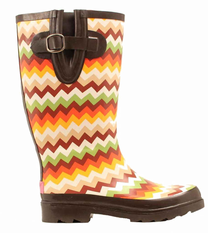 Blazin Roxx Women's Leanne Chevron Rain Boot Round Toe