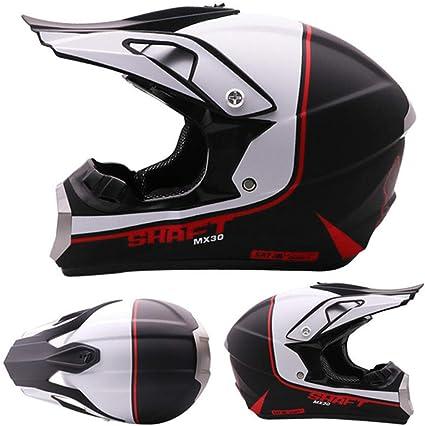 Amazon.es: Aopoy Adulto Casco de Moto Motocross Cara Completa ...