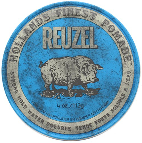 High Shine Finish (Reuzel High Shine Blue Pomade- 4 oz)
