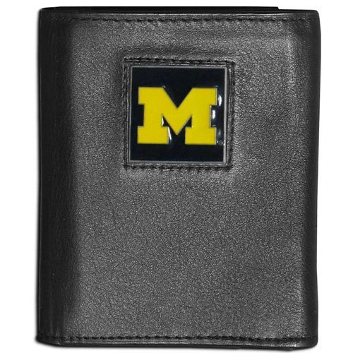 NCAA Michigan Wolverines Leather Tri-Fold Wallet