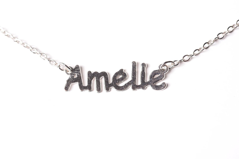 100% de qualité dernières tendances livraison rapide Collier prénom AMELIE: Amazon.fr: Bijoux