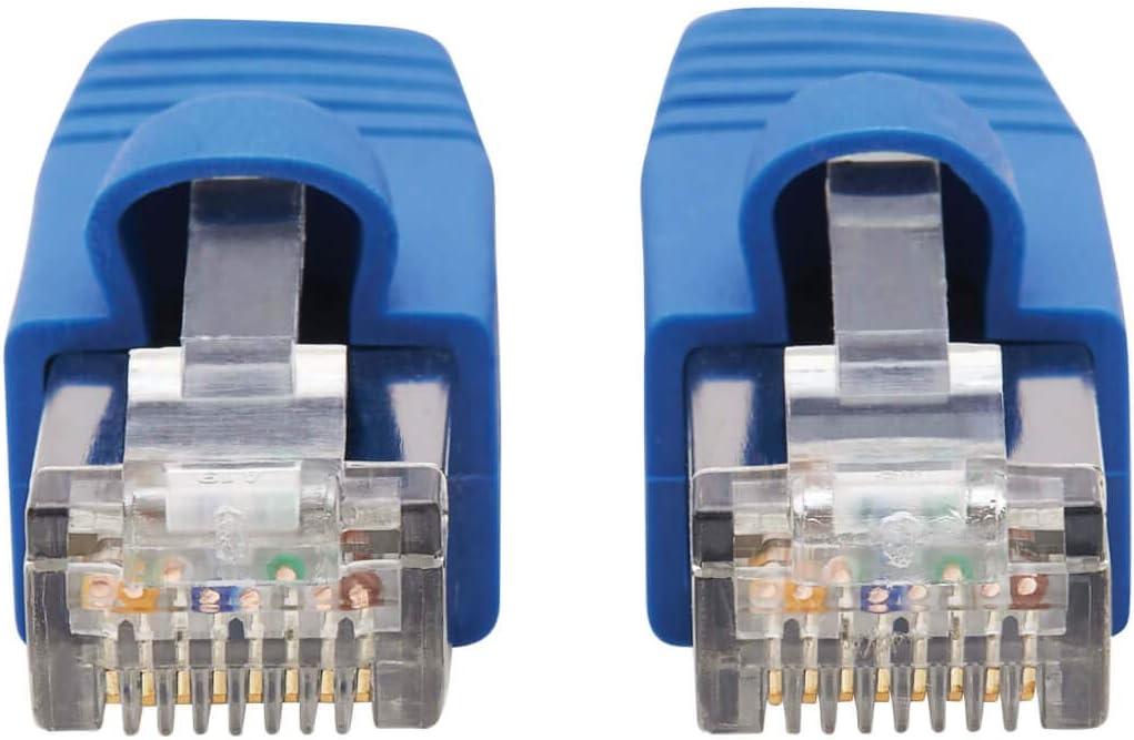 Tripp Lite Cat6a Patch Cable F//UTP Snagless w//PoE 10G CMR-LP Blue M//M 20ft N261P-020-BL