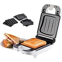 Korona 47041 Sandwichmaker für Kleinhaushalte - Sandwichtoaster 3 in 1 auswechselbare Platten