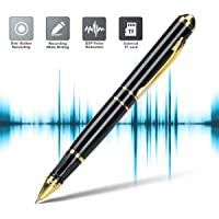 Lychee 16GB Digital Voice Recorder Pen for Lectures, Mini Rechargeable Audio Recording Device,3-in-1MP3 Player USB Disk TF Card Recorder for Interviews Student Courses Collecting Evidence