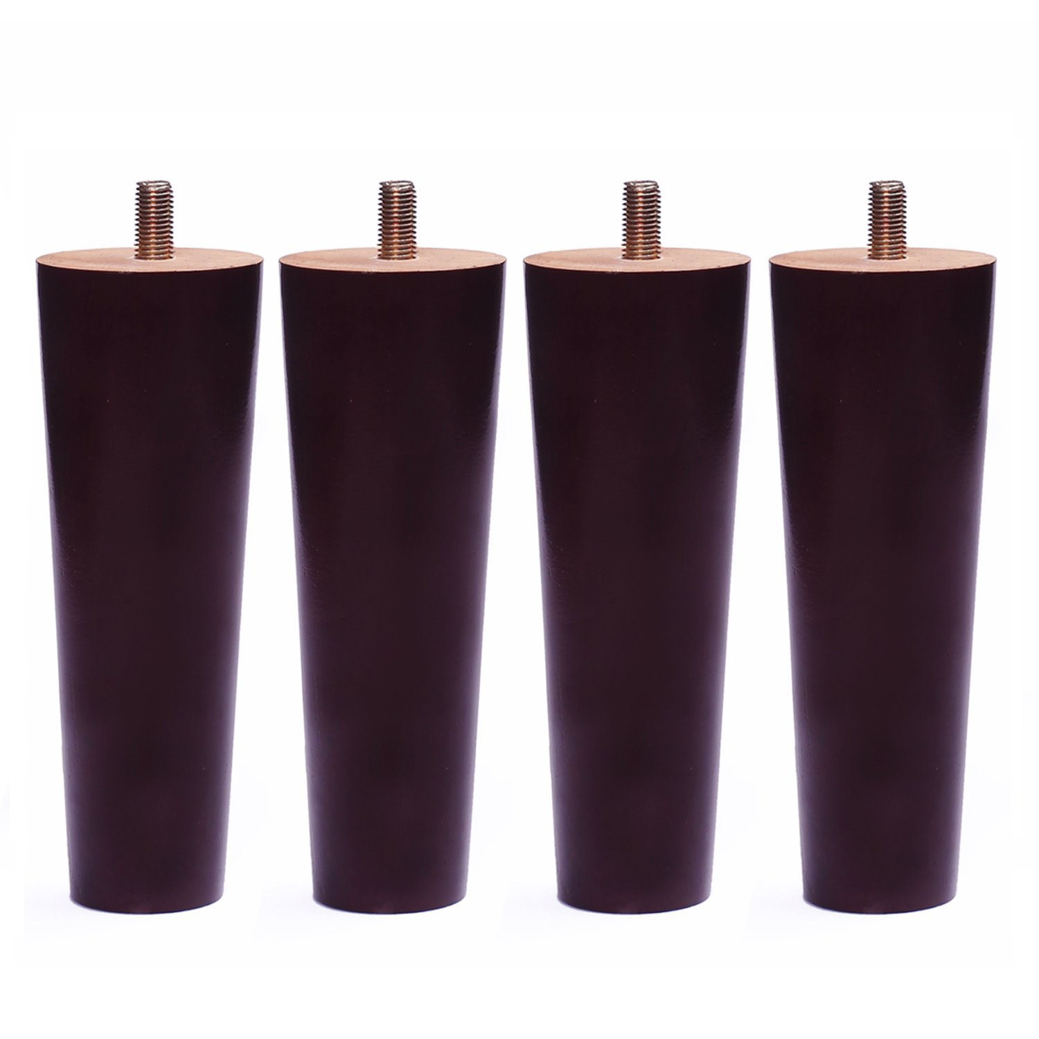 Round Solid Wood Furniture Sofa/Chair/Couch/Loveseat/Cabinet Replacement Legs (7 Inches, Set of 4)