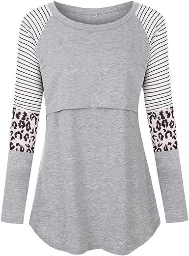 URSING - Camiseta de Lactancia para Mujer, de algodón, para ...