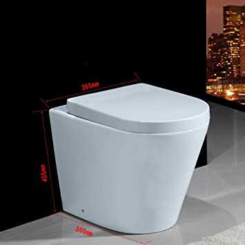 Heavy Duty Modern Sleek Wandhangendes Wc 405 X 365 X 560 Mm Kompakte