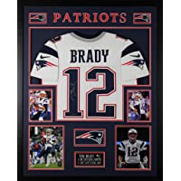 $2495 » Tom Brady Autographed White Patriots Jersey - Beautifully Matted and Framed - Hand Signed By Tom Brady and Certified Authentic by Tristar…