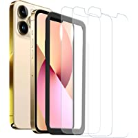 [3 Pack] ZUSLAB Screen Protector for iPhone 13 Pro Max Tempered Glass Film with Installation Alignment Frame