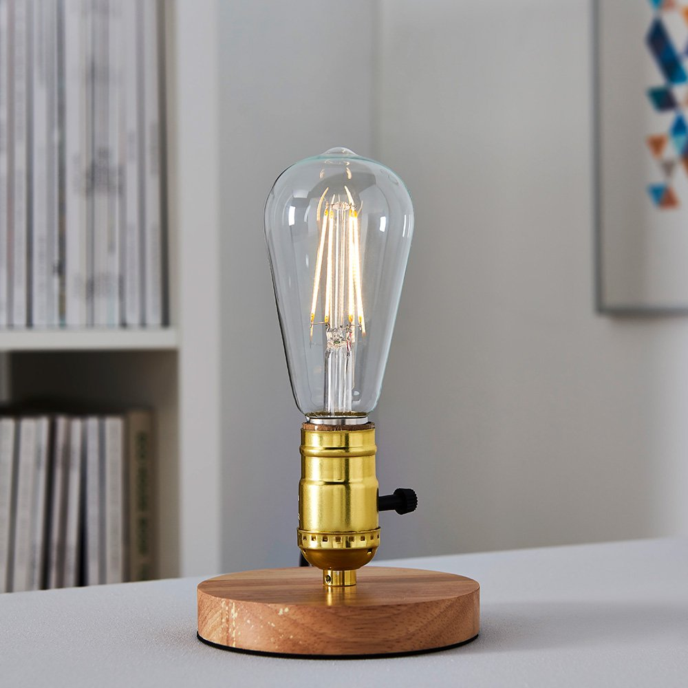 equivalent to 60W 7W Basics LED E27 Vintage Edison Bulb Pack of 2 ST64 Clear Filament