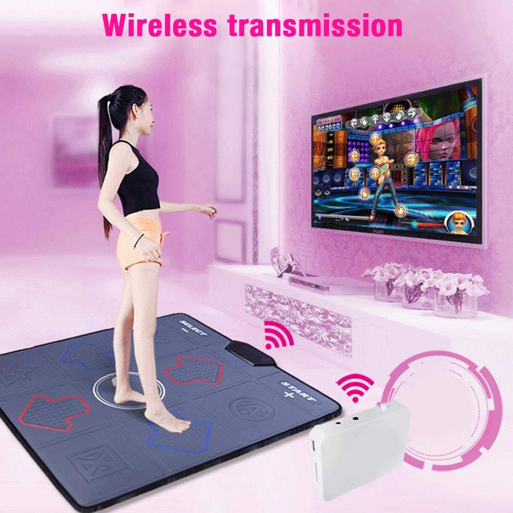 Assiduousic Dance Mats, Wireless Anti-Slip Weight Loss Slimming Exercise Fitness Massage Somatosensory Dance Machine with Computer TV Dual Use, Support Memory Card Download by Assiduousic (Image #7)