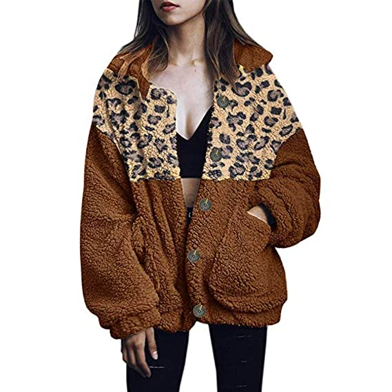MMcloud Moda Mujer Leopardo Sudaderas con Capucha Cremallera ...