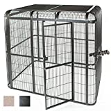 A&E CAGE CO 86-Inch by 62-Inch Walkin Aviary, Black