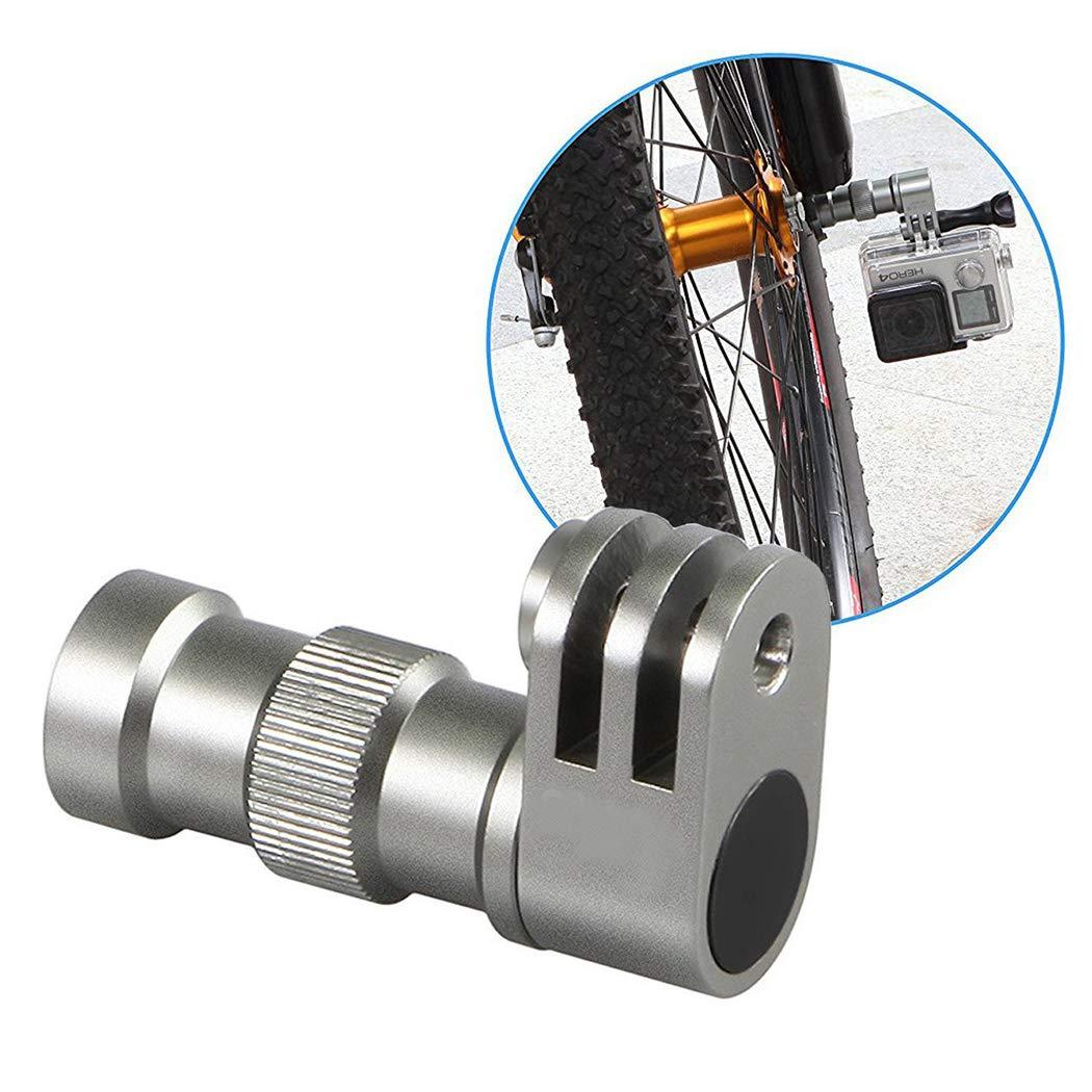 Fansport Supporto per Videocamera da Bicicletta Supporto per Mozzo Ruota in Lega di Alluminio per Gopro