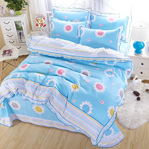 4PCS Butterfly Princess Bed Sets (Yellow) - 4