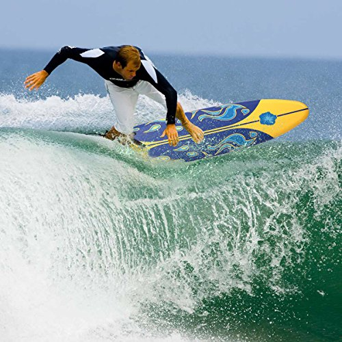 YG 6' Surfboard Surf Foamie Boards Surfing Beach Ocean Body Boarding Yellow & Blue by YG