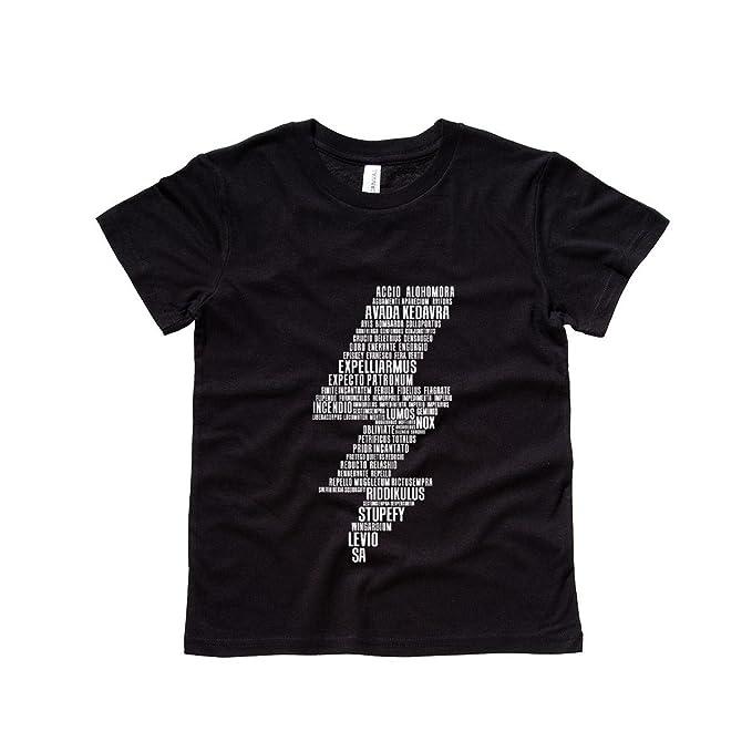 2007bccd2 Moment Gear Harry Potter Spells Lightning Bolt Kids Tee Shirt Medium ...