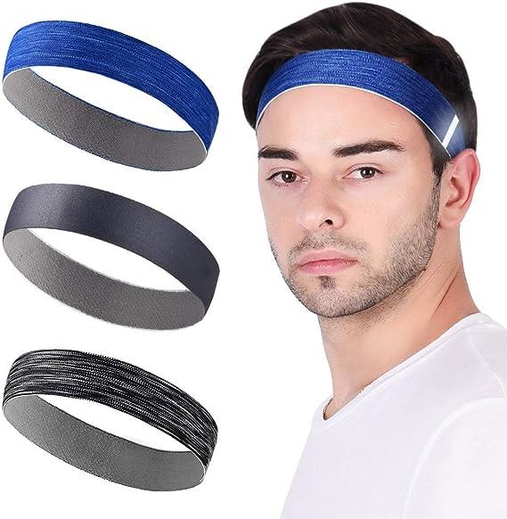 Adventure World Sweatband Stretchy Moisture Wicking Headband for Fitness /& Sport