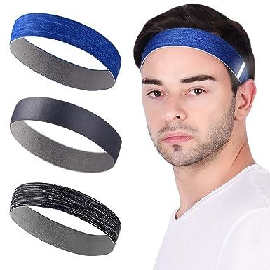 viel rabatt genießen bieten Rabatte neues VBIGER 3 Stück Stirnbänder Sport Stirnband für Herren ...