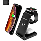Wireless Charging Stand, GEEKERA 3 in 1 Wireless Charger Fast Charging Dock Station for Apple Watch 6 SE 5 4 3 2…