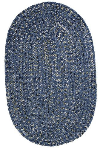 Colonial Mills Braided Oval Area Rug 2'x3' Blue West Bay (Bay Chenille Braided Rug)