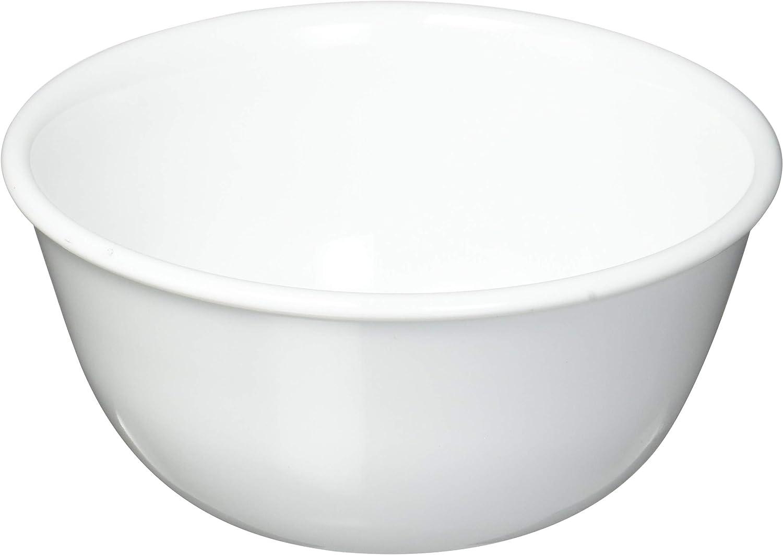 4 Corelle Pure White Square 10-oz Dessert Bowls New Made in USA