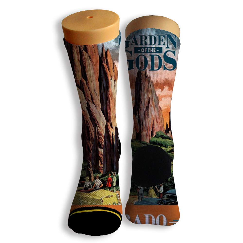 Basketball Soccer Baseball Socks by Potooy Garden of the Gods 3D Print Cushion Athletic Crew Socks for Men Women